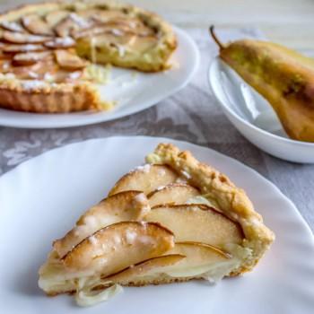 Пирог с грушей и сыром моцарелла и маскарпоне