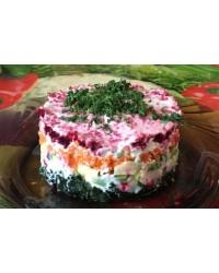 Салат шуба вегетарианская