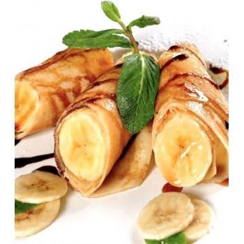 Блины с бананом и сгущенкой
