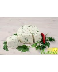 Адыгейский сыр (панир) домашний с зеленью